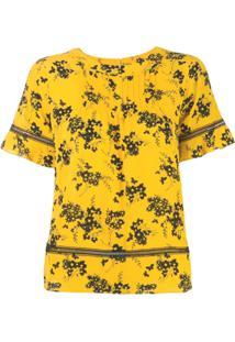 Michael Michael Kors Blusa Com Estampa Floral - Amarelo