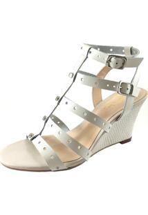 Sandália Vanilla Sky Shoes Anabela Off-White