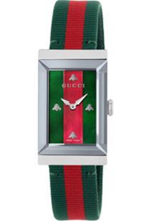 Gucci Relógio 'G-Frame' - Verde