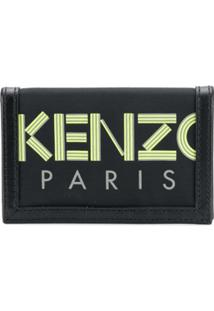 Kenzo Carteira Com Logo - Preto