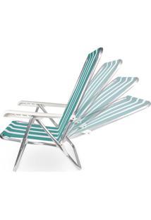 Cadeira Reclinável Alumínio 4 Posições 2233