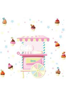 Adesivo De Parede Infantil Doces Candy Colors