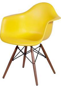 Cadeira Eames Com Braco Base Escura Amarela Fosco - 44880 Sun House