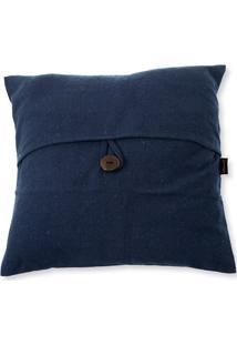Capa Para Almofada Em Algodão Romantic 40X40Cm Azul
