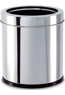 Lixeira Inox Com Aro 5,4L Prata
