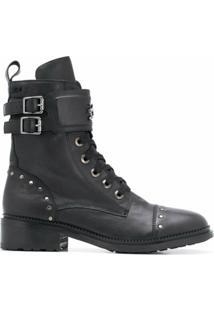 Karl Lagerfeld Ankle Boot Danton Com Aplicação De Tachas - Preto
