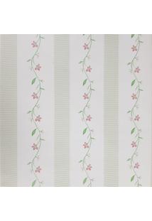 Kit 4 Rolos De Papel De Parede Fwb Lavável Floral Vermelho Com Verde - Tricae