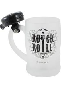 Caneca Com Campainha Rock Roll - Zona Criativa