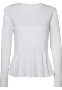 Blusa Le Lis Blanc Cris Malha Algodão Off White Feminina (Off White, G)
