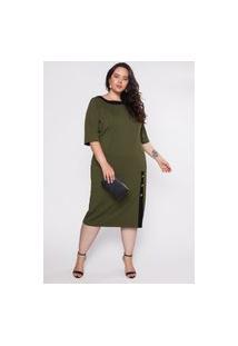 Vestido Almaria Plus Size Garage Midi Verde