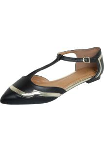 Sapatilha Dafiti Shoes Recortes Preta