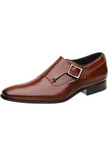 Sapato Social Malbork Monk Caramelo
