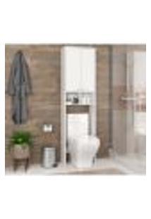 Armário Para Banheiro Com 2 Portas E 2 Nichos - Branco