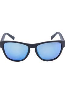 -22% Óculos De Sol Nautica N6191S Preto Azul Lente Espelhada a2b3fe261a