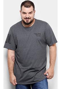 Camiseta Yellowl Estampada Plus Size Masculina - Masculino