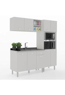 Cozinha Compacta Piazza 9 Portas 1 Gaveta 600024 Gris - Vedere