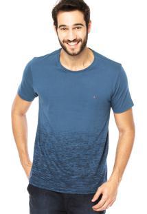 Camiseta Manga Curta Aramis Estampa Azul