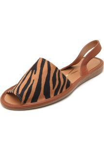 Rasteira Vizzano Zebra Caramelo