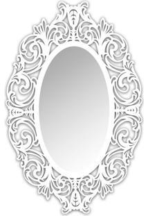 Espelho De Parede 12875B Branco 70X110 Art Shop