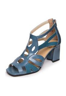 Sandalia Feminina Gladiadora Azul - Cobalto / Sued Azul Real 6015