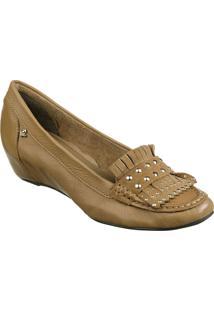 Sapato Feminino Cravo Canela Napa Soft Camel * Top Camurça Camel - 86437-3