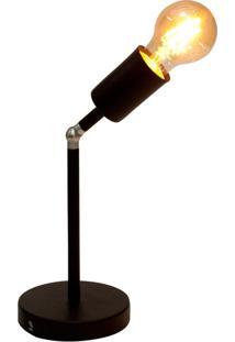 Plafon Taschibra Pointer Para 1 Lâmpada E27 Preta Fosca Bivolt