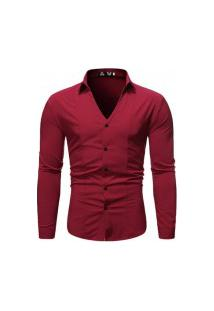 Camisa Masculina Fashion Style - Vermelha