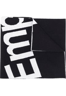 Emporio Armani Cachecol Com Logo - Preto
