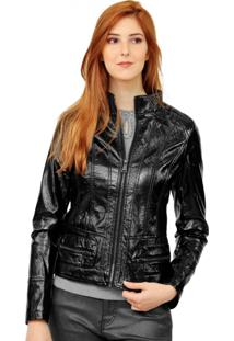 Jaqueta Corazzi Leather Deluxe Vinil Preta