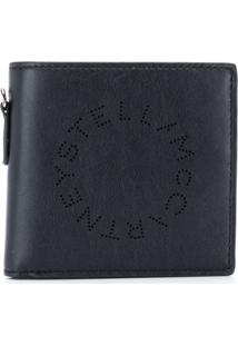 Stella Mccartney Carteira Dobrável Com Logo - Preto