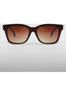 Óculos De Sol Quadrado Feminino Oneself Marrom