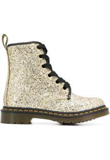 Dr. Martens Ankle Boot Com Aplicação De Brilho - Dourado