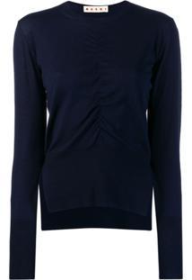 Marni Suéter Com Franzido - Azul