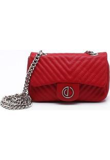 Bolsa Shoulder Bag Couro Vermelho Deluxe - P