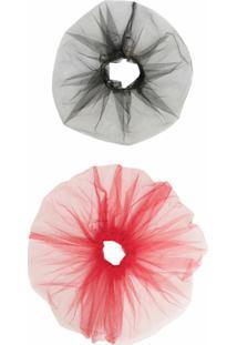 Atu Body Couture Kit De 2 Scrunchies Com Tule - Preto