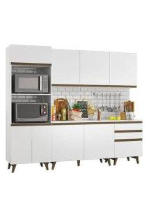 Cozinha Completa Madesa Reims Com Balcão - 8 Portas 3 Gavetas