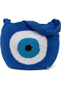 Bolsa Crochê Skinbiquini Feminina - Feminino-Azul