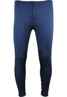 Calça Térmica Fiero Segunda Pele Inverno Thermo Premium Azul