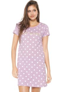 Camisola Hering Curta Lazy Sleep Lilás