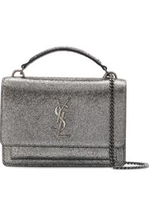 Saint Laurent Bolsa Tiracolo 'Sunset' - Prateado