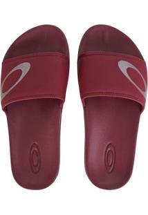 Chinelo Oakley Malibu Slide Masculino - Masculino-Vermelho