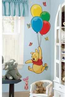 Adesivo De Parede Ursinho Pooh Roommates Amarelo