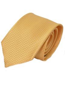 Gravata Horus Dourada Amarela Tradicional 4007