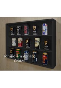 Mini Estante Vitrine Para Coleções Miniaturas / Cervejas Laqueada - Preto