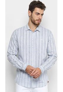 Camisa Colcci Manga Longa Listrada Masculina - Masculino