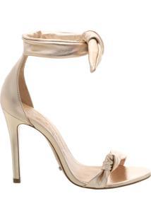 Sandália Lace Up Stiletto Platina | Schutz