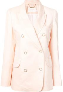 Zimmermann Blazer Super Eight Com Abotoamento Duplo - Rosa