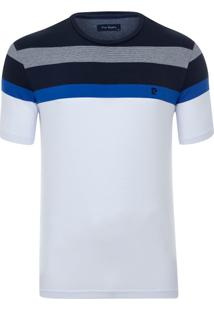 Camiseta Listradora Branca Vip