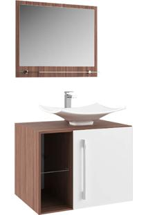 Gabinete Para Banheiro Suspenso E Moderno Branco E Palermo