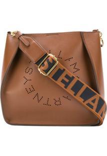 Stella Mccartney Bolsa Transversal Stella Com Logo - Marrom
